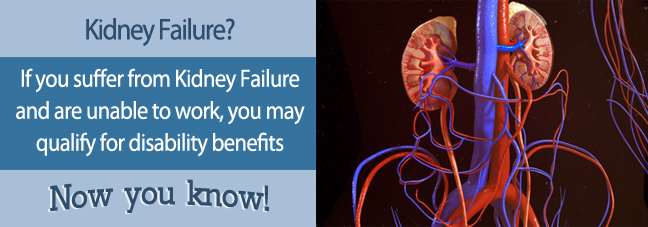 If you cannot work because of kidney failure, you may qualify for Social Security disability benefits.