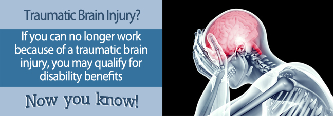 If you suffered from a traumatic brain injury and can't work, you may qualify for Social Security disability benefits.